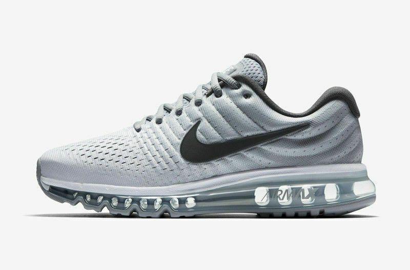 Brand New Nike Air Max 2017 Men/'s Running Shoes 849559-101 White Dark Wolf Grey