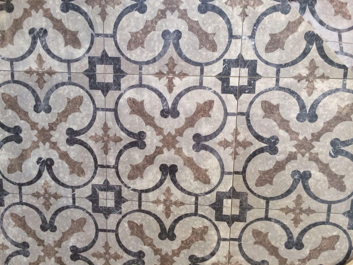 Porcelain tile at porcelanosa  Looks like encaustic tile but much more  durable. Encaustic look porcelain tile at ann sacks    Tile   Pinterest