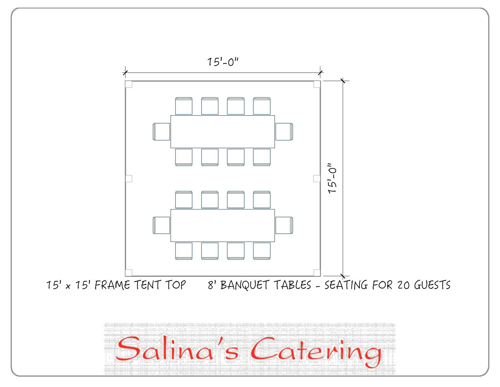banquet table layout generator