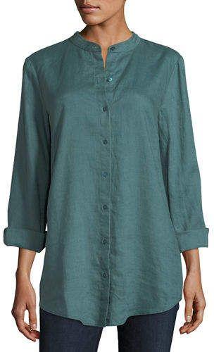 506f7a1b Eileen Fisher Organic Linen Tunic Shirt   Dresses   Linen tunic ...