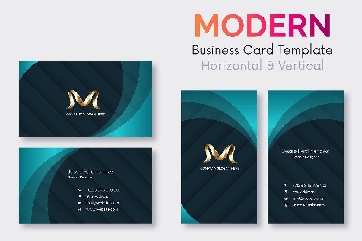 Modern Business Card Template V 105 Modern Business Cards Business Card Template Double Sided Business Cards