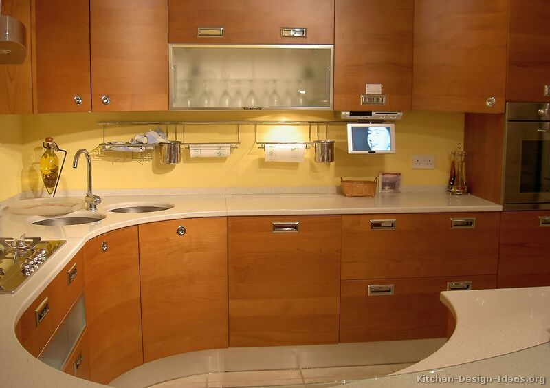 Modern Wood Cabinet Design Pictures Of Kitchens  Modern  Medium Wood Kitchen Cabinets This