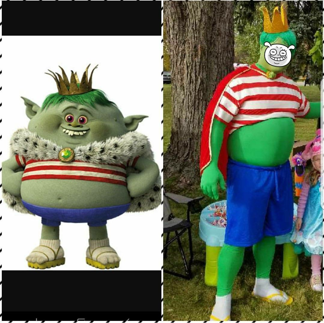 king gristle trolls halloween costume trunk or treat costumes