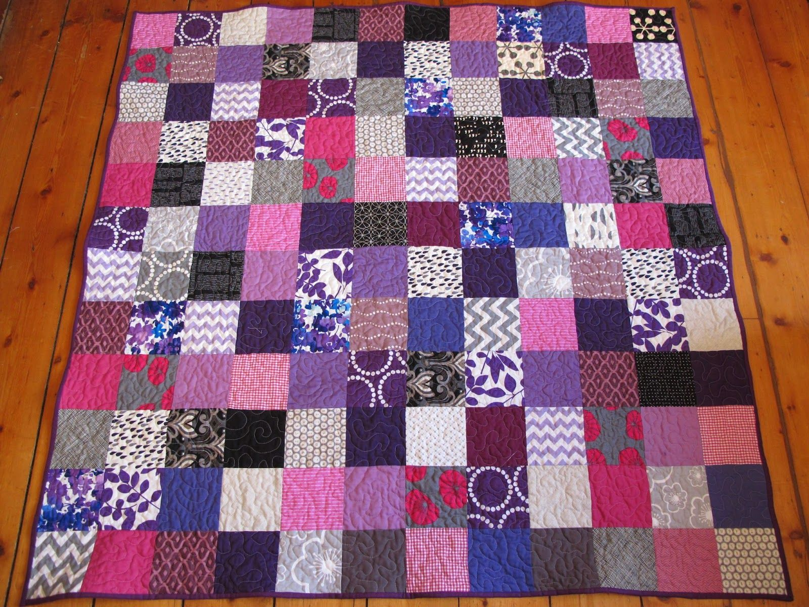 """12 x 12 5"""" blocks - awesome fabric choices! from A Note to Follow Sew"""