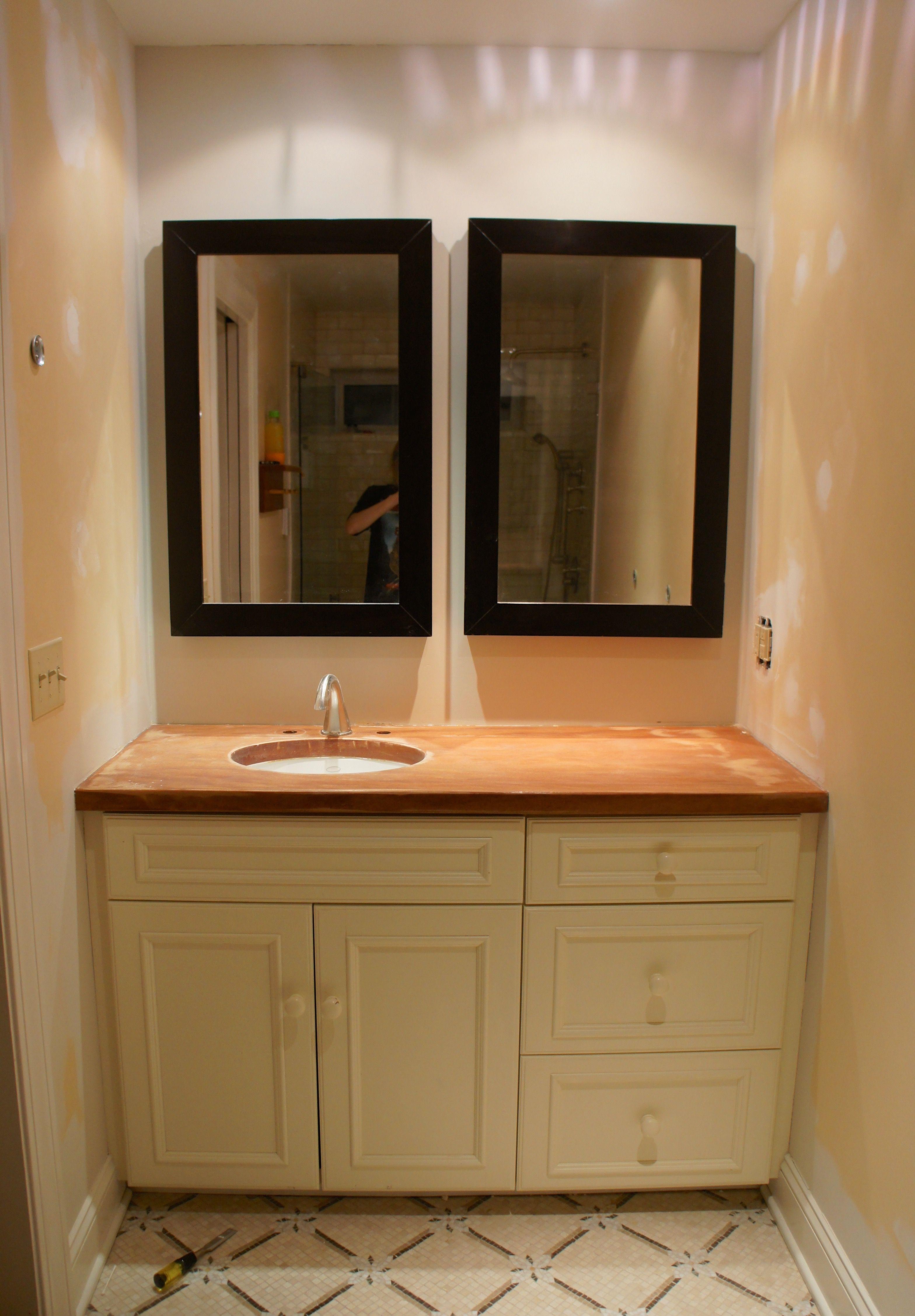 Remnant Vanity Top Installation Kitchen Cabinets Pinterest - Remnant kitchen cabinets