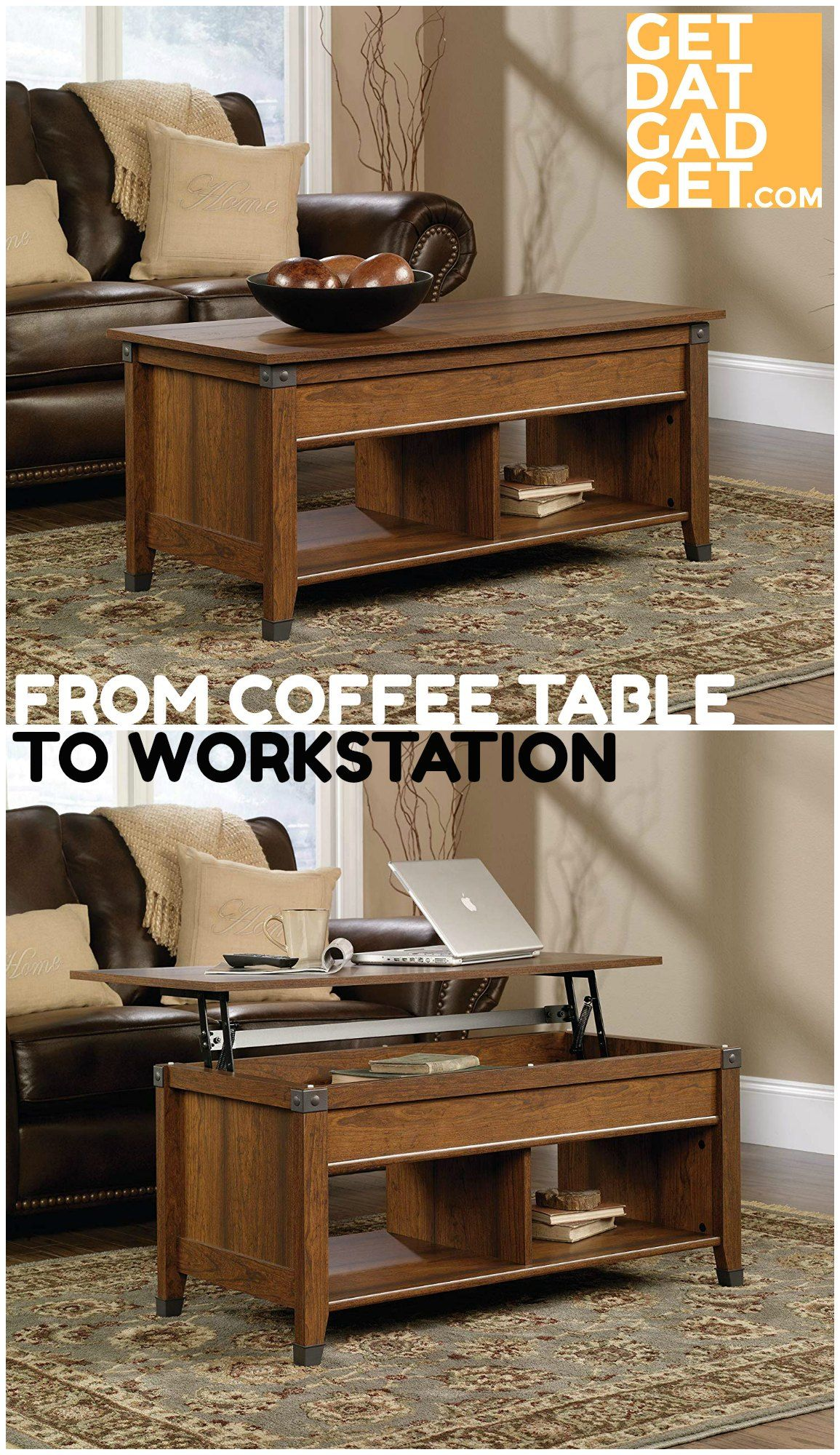 Sauder Carson Forge Lift Top Coffee Table Turns Your Living Room