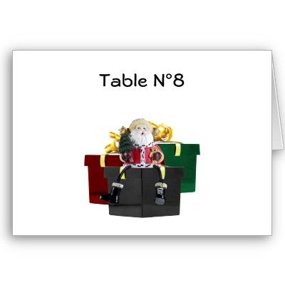 SantaS Gifts Christmas Table Tent Template  Table Tents