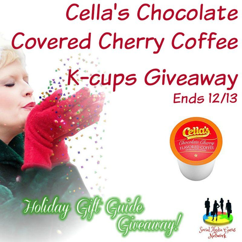 Cellas chocolate covered cherry coffee kcups giveaway