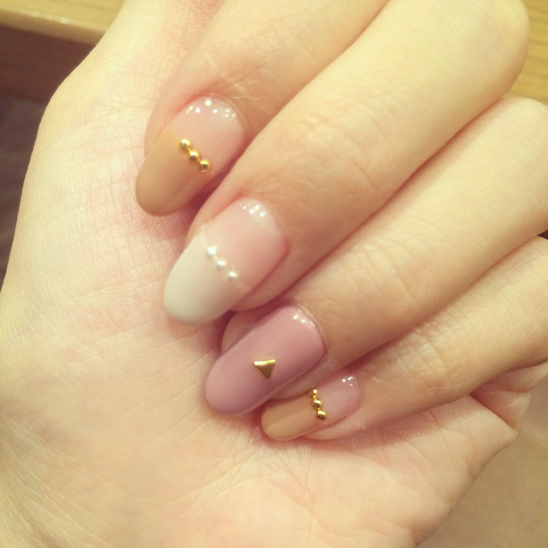 ネイル 秋ネイル スタッズ パール | Nails》Japanese manicure ...