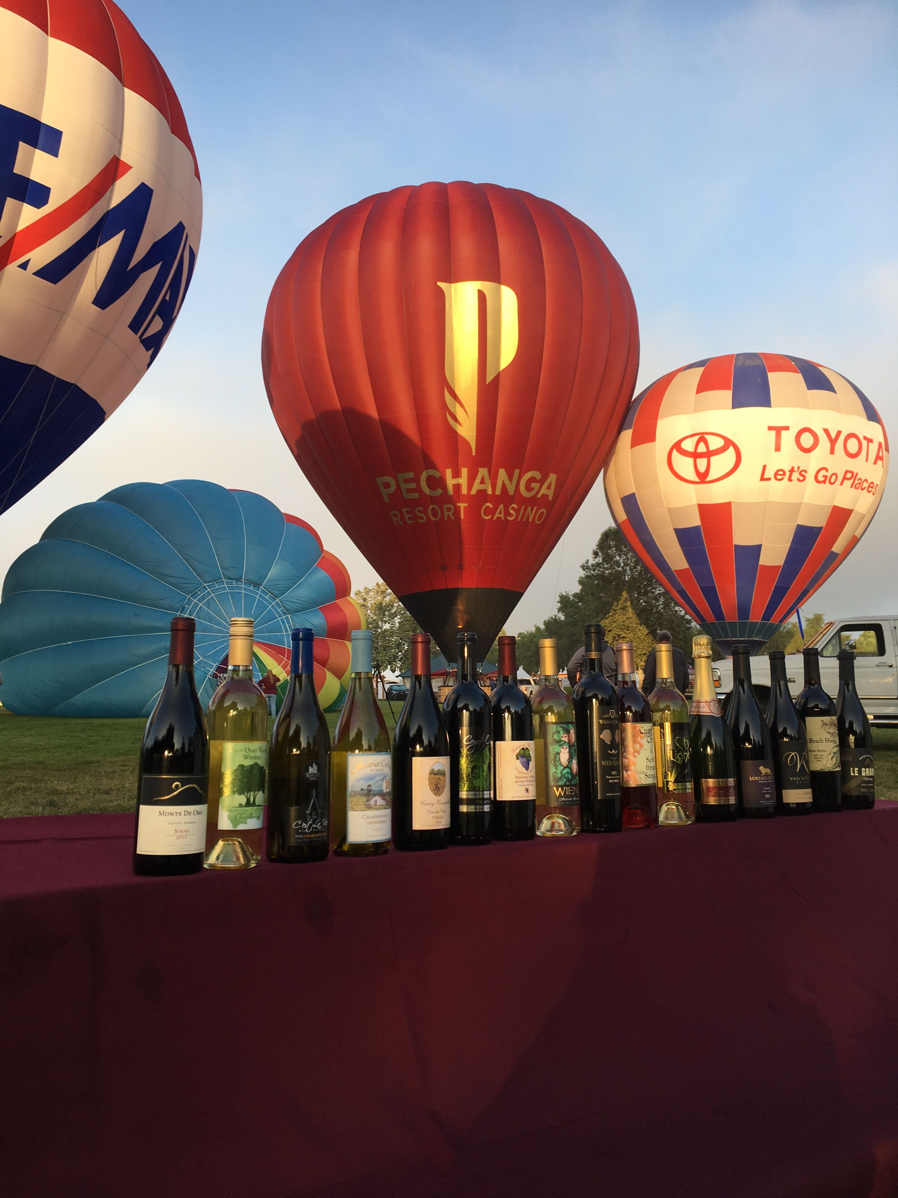 Tvbwf2017 Media Mornings Start At 4 Am Here Are Wines That Were Poured At The Festival 17 Wineries 40 Balloons 30 40 Balloons Wine Festival Casino Resort