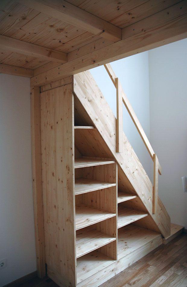 Hochbett Und Regaltreppe Kleines Haus Treppe The Loft Bett