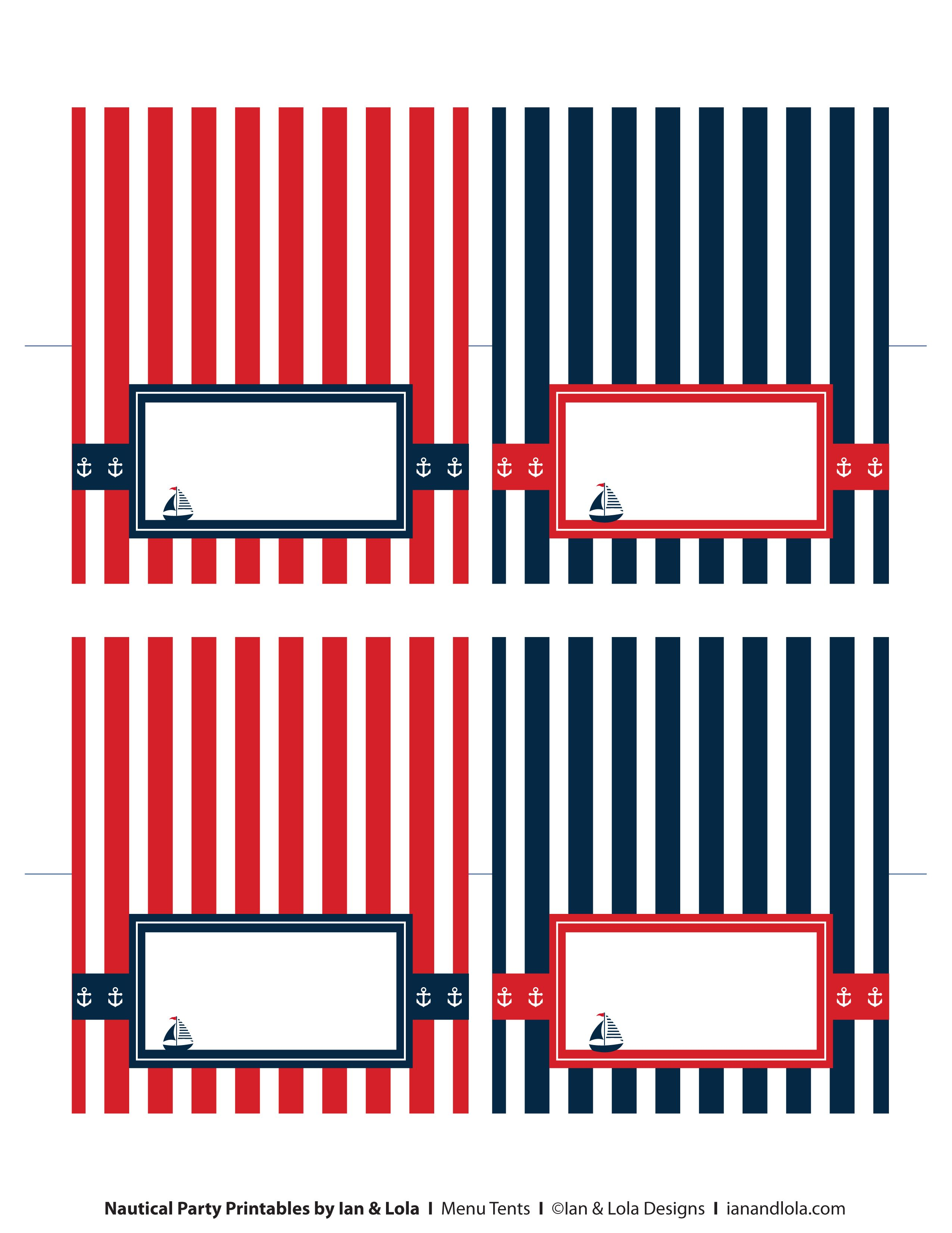 Free Nautical Party Printables from Ian & Lola Designs | Free ...