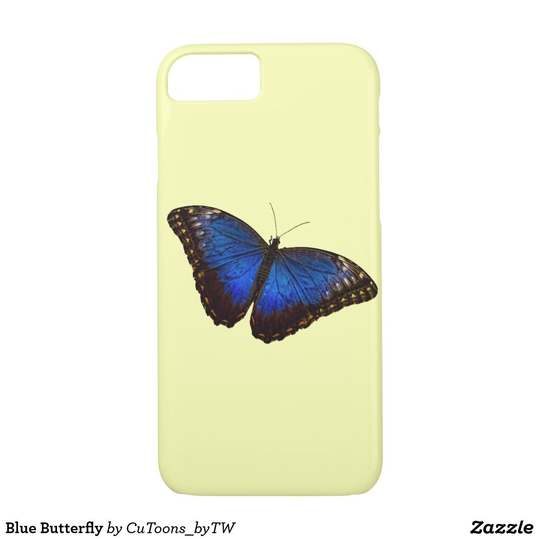 Blue butterfly casemate iphone case blue