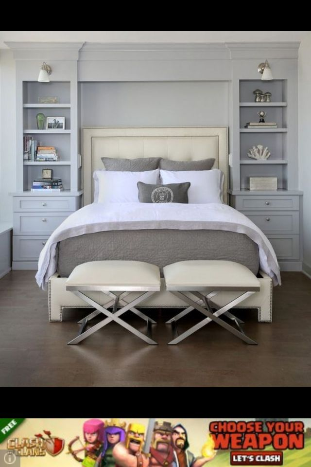 The wall setup here   Small master bedroom, Bedroom built ...