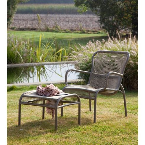Swell Vincent Sheppard Loop Outdoor Lounge Chair Taupe Customarchery Wood Chair Design Ideas Customarcherynet
