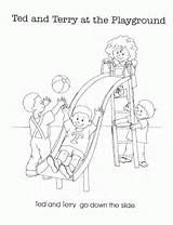 Enjoy the Playground After Going Back to School Coloring Page ...   208x160
