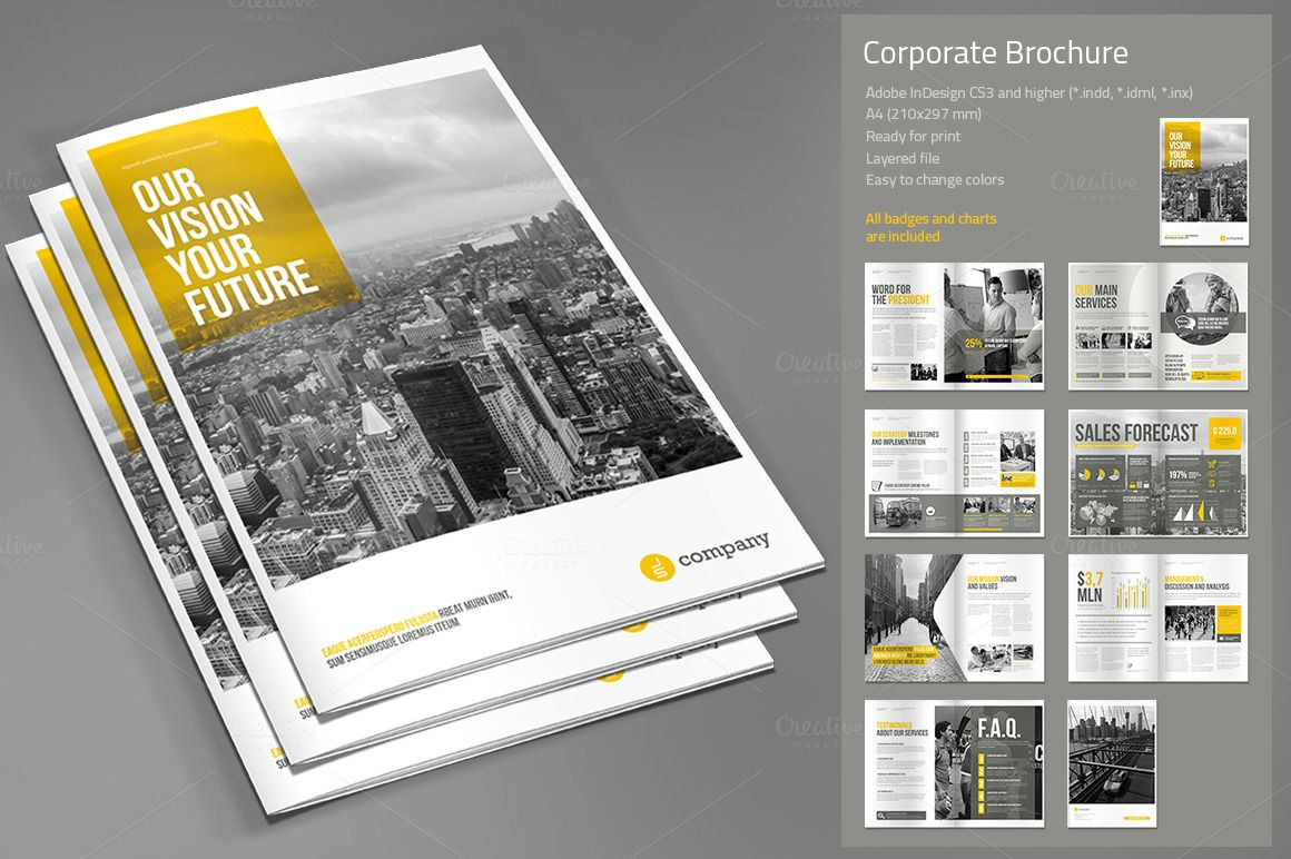 Corporate Brochure Vol  By Paulnomade On Creative Market  Brand