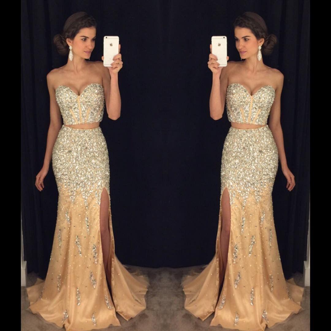 Sparkly prom dressespageant gownstwo piece prom dressesmermaid
