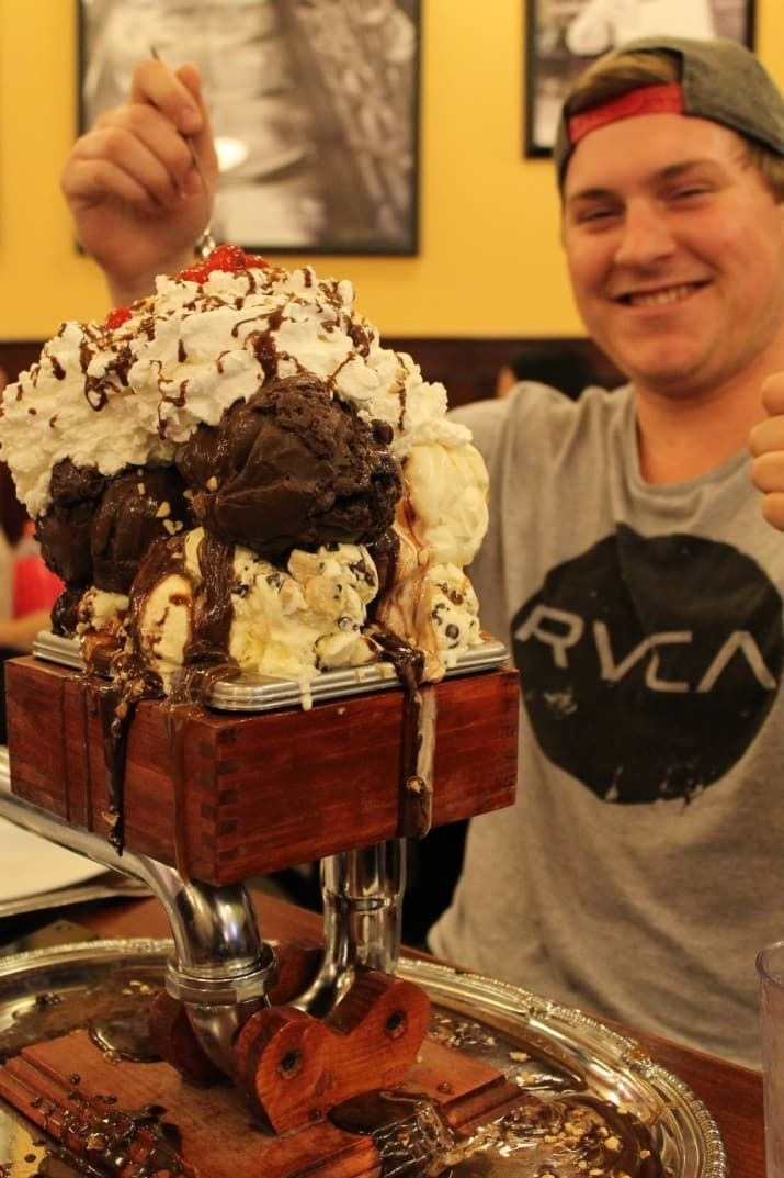 Kitchen Sink Ice Cream San Francisco The 18 most insane food challenges ever ice cream flavors walnut where the san francisco creamery co walnut creek califallenge this monster sundae consists of three bananas eight scoops of ice cream flavors are workwithnaturefo