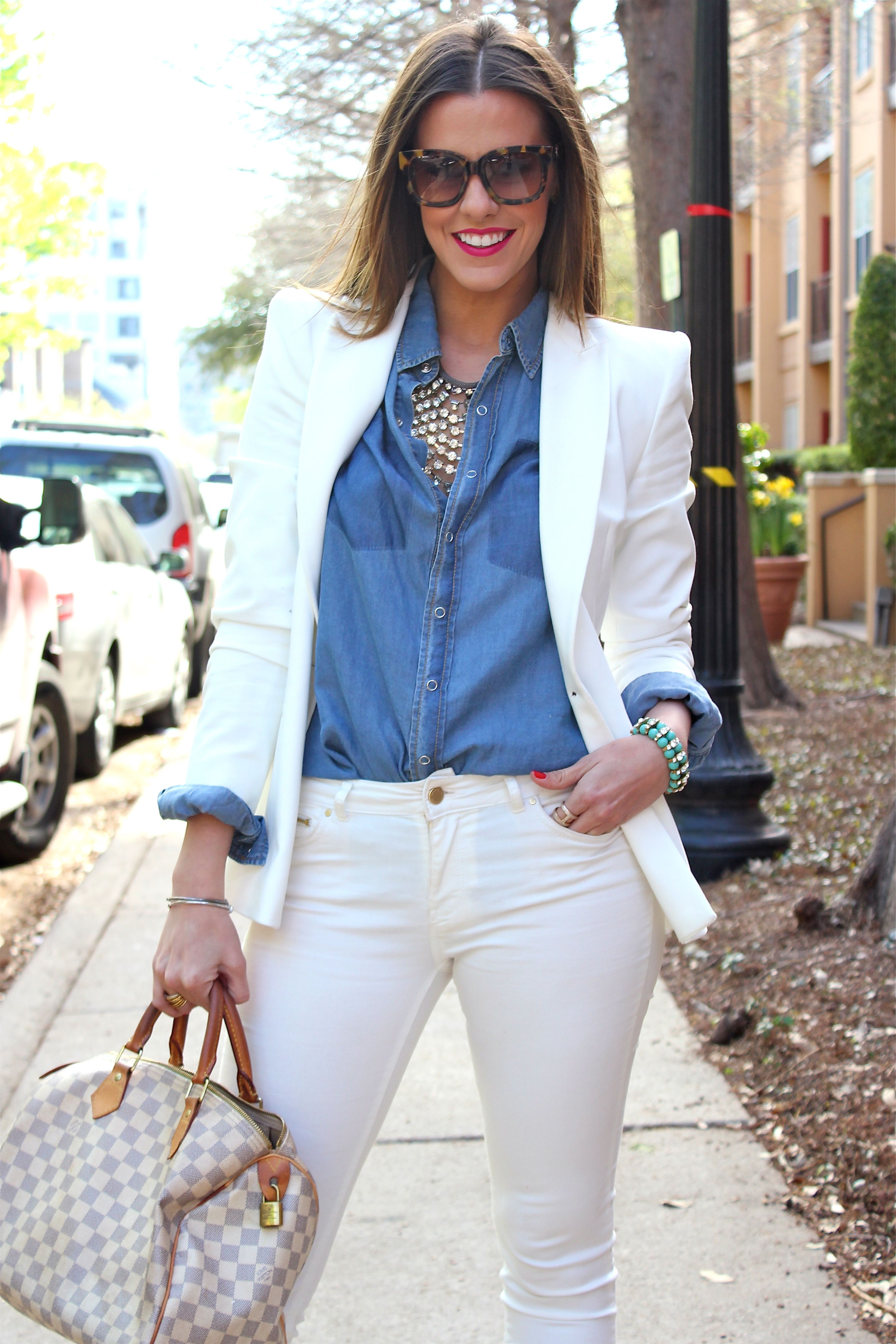 white blazer   white jeans | SS13 | Pinterest | Blazer bianchi ...