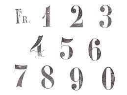 数字 フォント