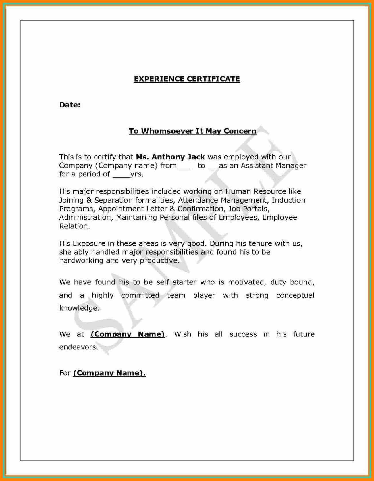 experience certificate sample for electrician fresh elegant experience certificate formats mitocadorcoreano fresh job experience certificate format pdf
