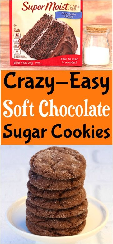Soft Chocolate Sugar Cookies Recipe (Posts by DIY Thrill)