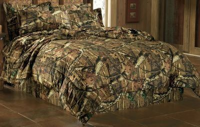 Mossy Oak Break Up Infinity Comforter Bed Skirt And Pillow Sham