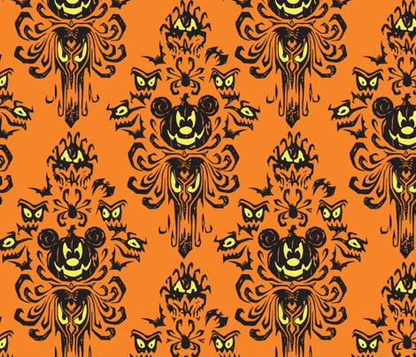 Haunted Mansion Wallpaper Fabric Large Haunted Mansion