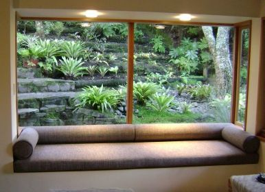 Image result for mid century modern built-in window seat