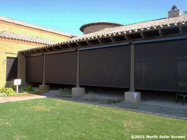 Large Heavy Duty Outdoor Solar Shades North Solar Screen Outdoor Patio Shades Outdoor Shade Patio Shade