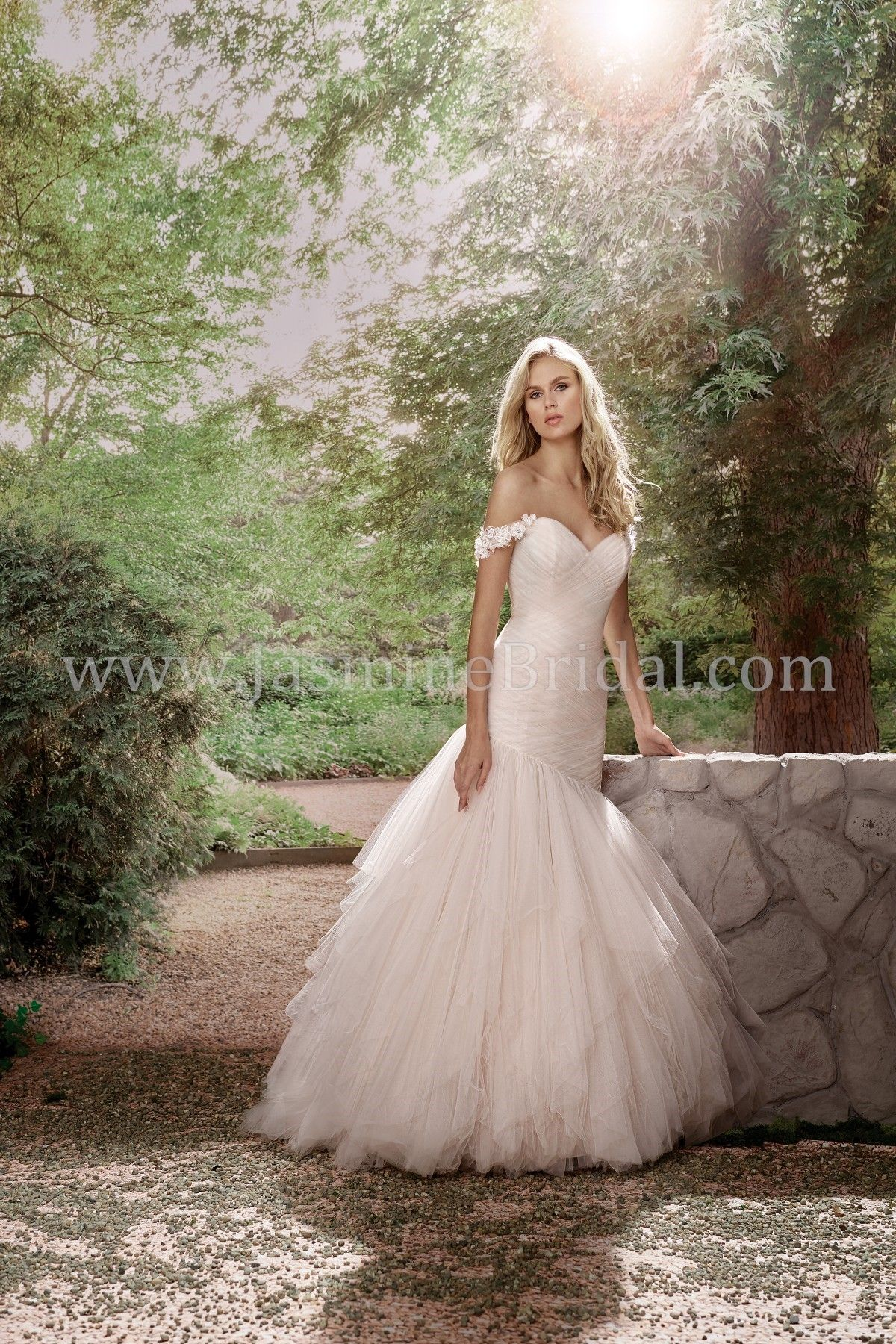 Different color wedding dresses  Jasmine Bridal This gown is romantic but sexy Itus available in