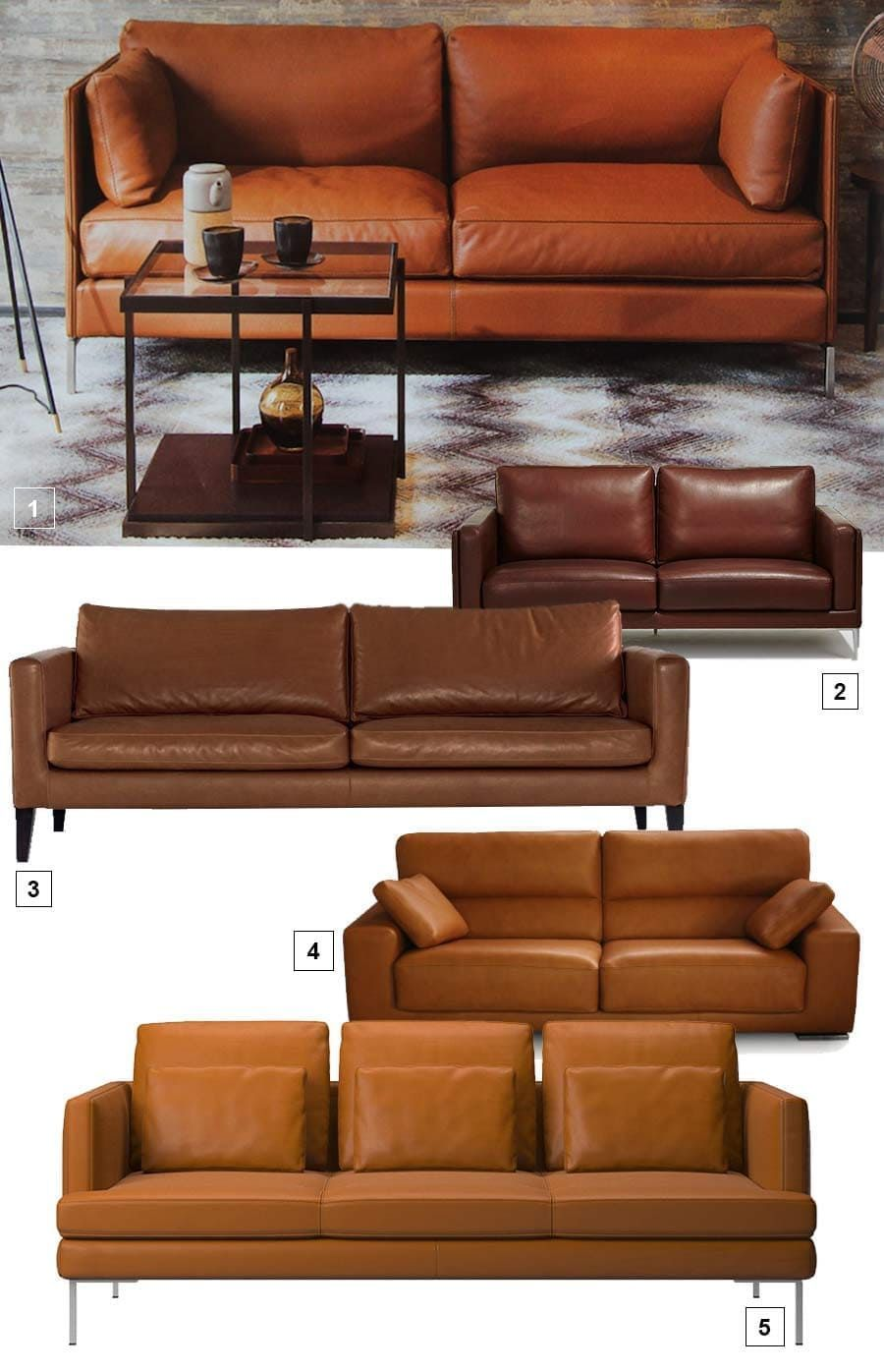 Canapés en cuir | Salon moderne en 2019 | Canapé classique ...