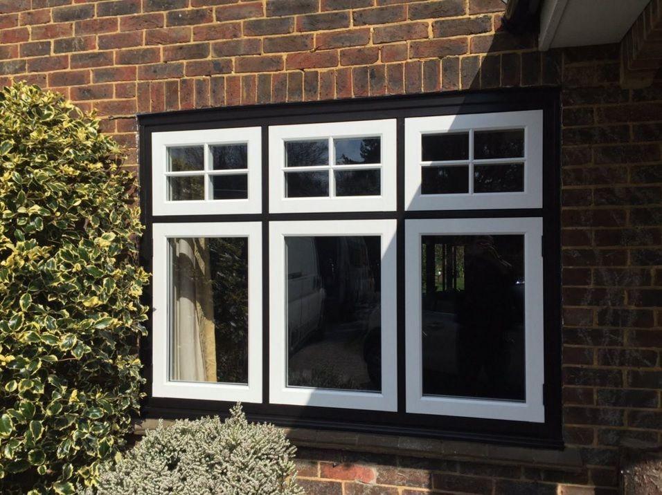 Stunning Blackandwhite Residence 9 Window Installation By Sussex Windows Tudor Tudorhome Homeimprovement R9journey Flushcasemen