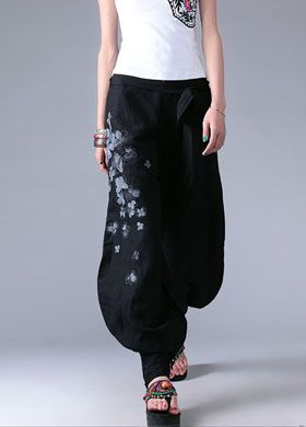 Women's Fashion Embroidered Flared Pants | Trousers 570 - WearingSales ...
