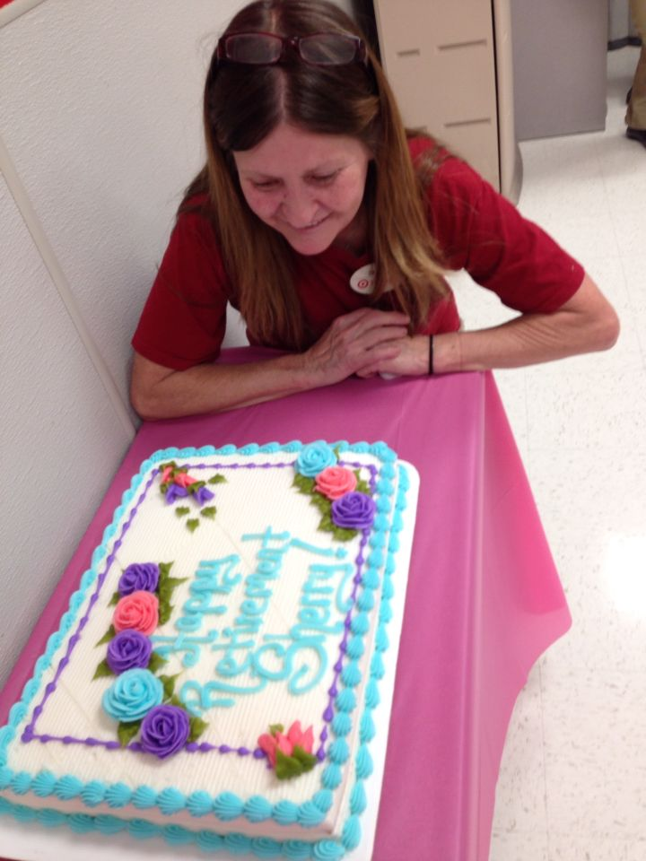 My retirement cake...22 years at Target