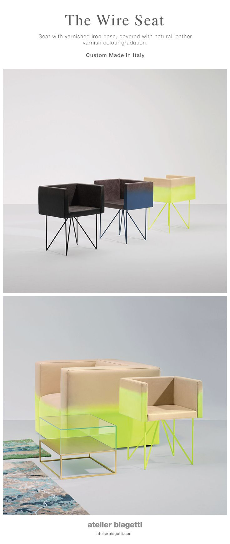 The Wire Seat Seat With Varnished Iron Base Covered With Natural  # Werkbund Muebles