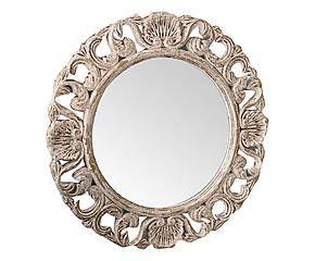 Specchio da parete tondo in legno Veronique - d 48 cm