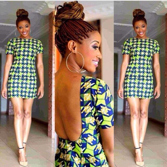 91e1a840ba8882 Backless Ankara African print dress | dresses | African fashion ...