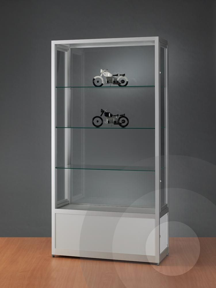 Dustproof Display Cabinet with Cupboard 1000mm   Display Cabinets ...