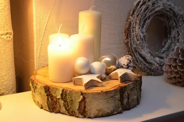 Deko-Objekte – Adventskranz Baumscheibe BIG Weihnachten Advent – ein Designerst…