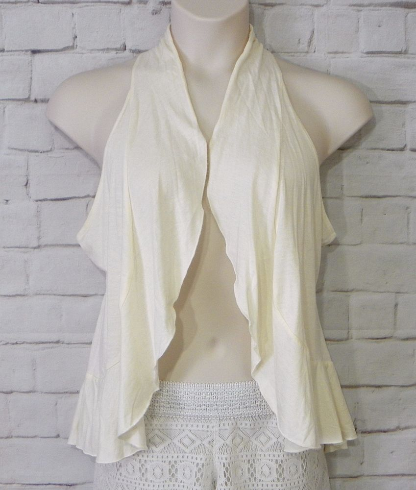 Womens MAURIES Cream Knit Crochet Inlay Open Drape Front Cardigan Top Size Large #Maurices #Cardigan #CareerCasual