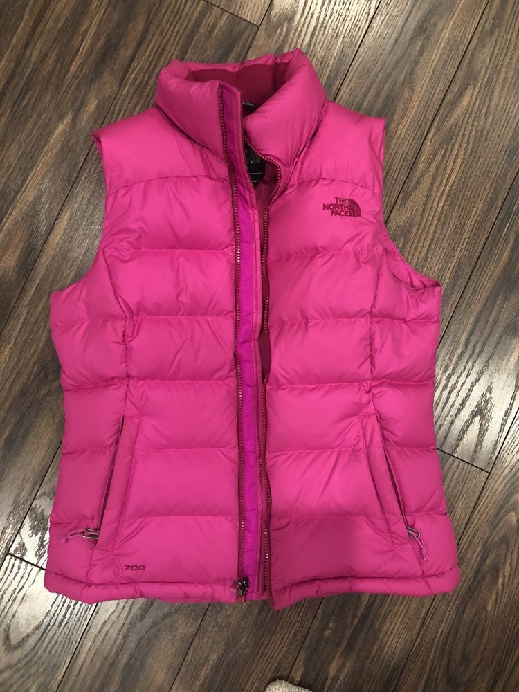 54dac7d21e Womens Pink North face Puffer Vest Size S