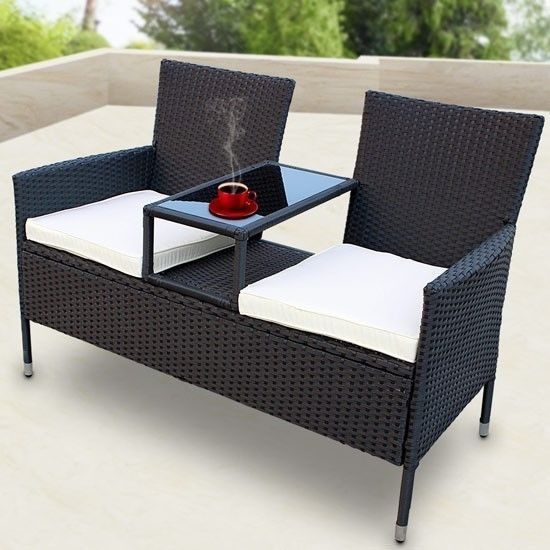 Garden Love Seat Chair Companion Table Chair Outdoor Furniture Set 2 Seats Http Www Ebay Co Uk Itm Garden Love Seat Chair Companion Table Chair Outdoor Furnit