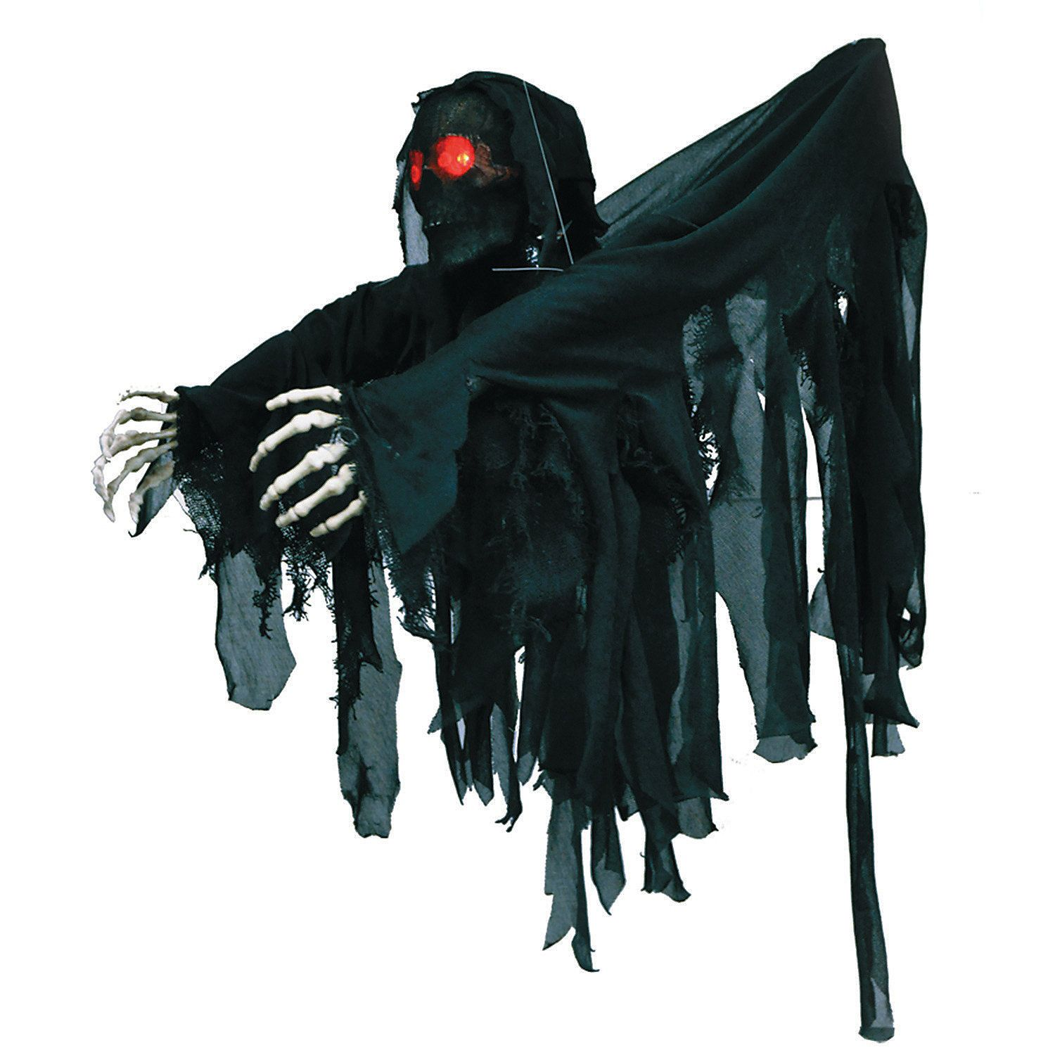Hanging Black Wrapped Ghoul Scary decorations, Wraps and Halloween - Decorating For Halloween