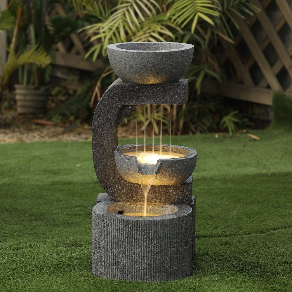 Our Best Outdoor Decor Deals Water Fountains Outdoor Outdoor Fountain Fountains Outdoor Modern outdoor water fountain canada