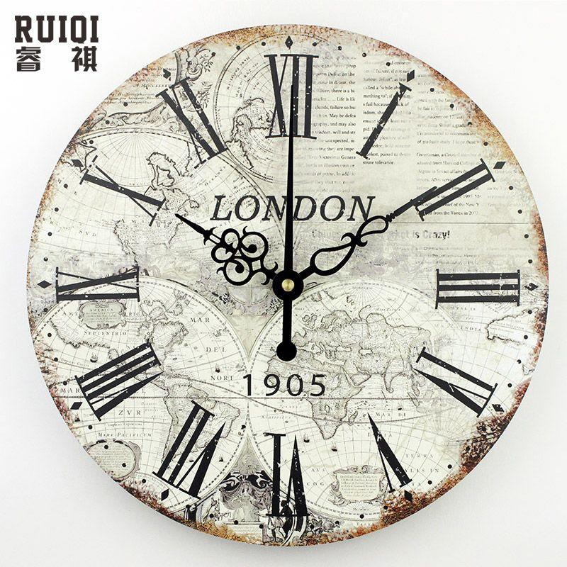 cheap mapa del mundo grande decorativo reloj de pared moderno diseo silencioso moda sala de reuniones