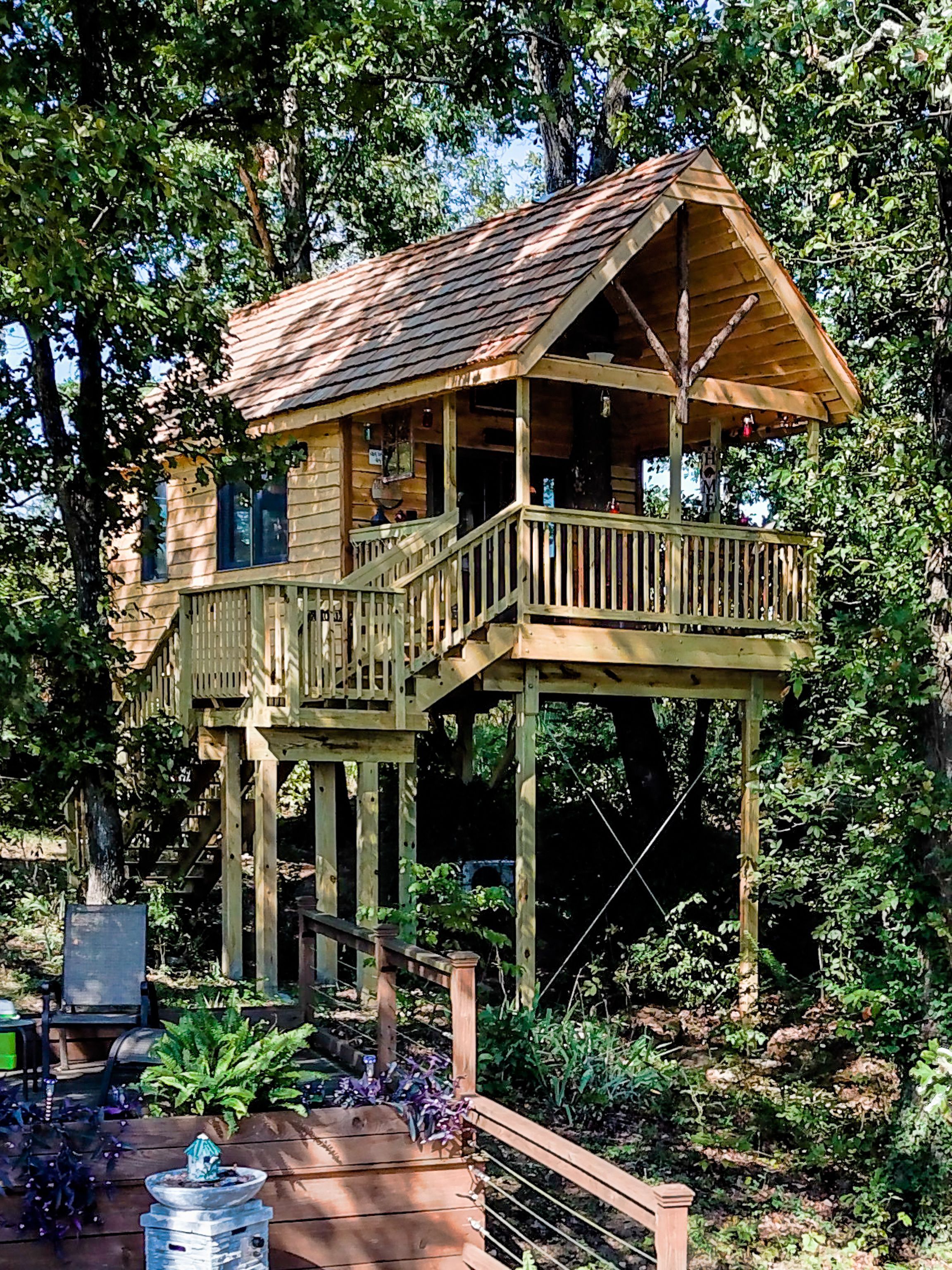 Full Season Treehouse 12 X 32 Deck With 12 X 20 House Tree House Tree House Designs Building A Treehouse