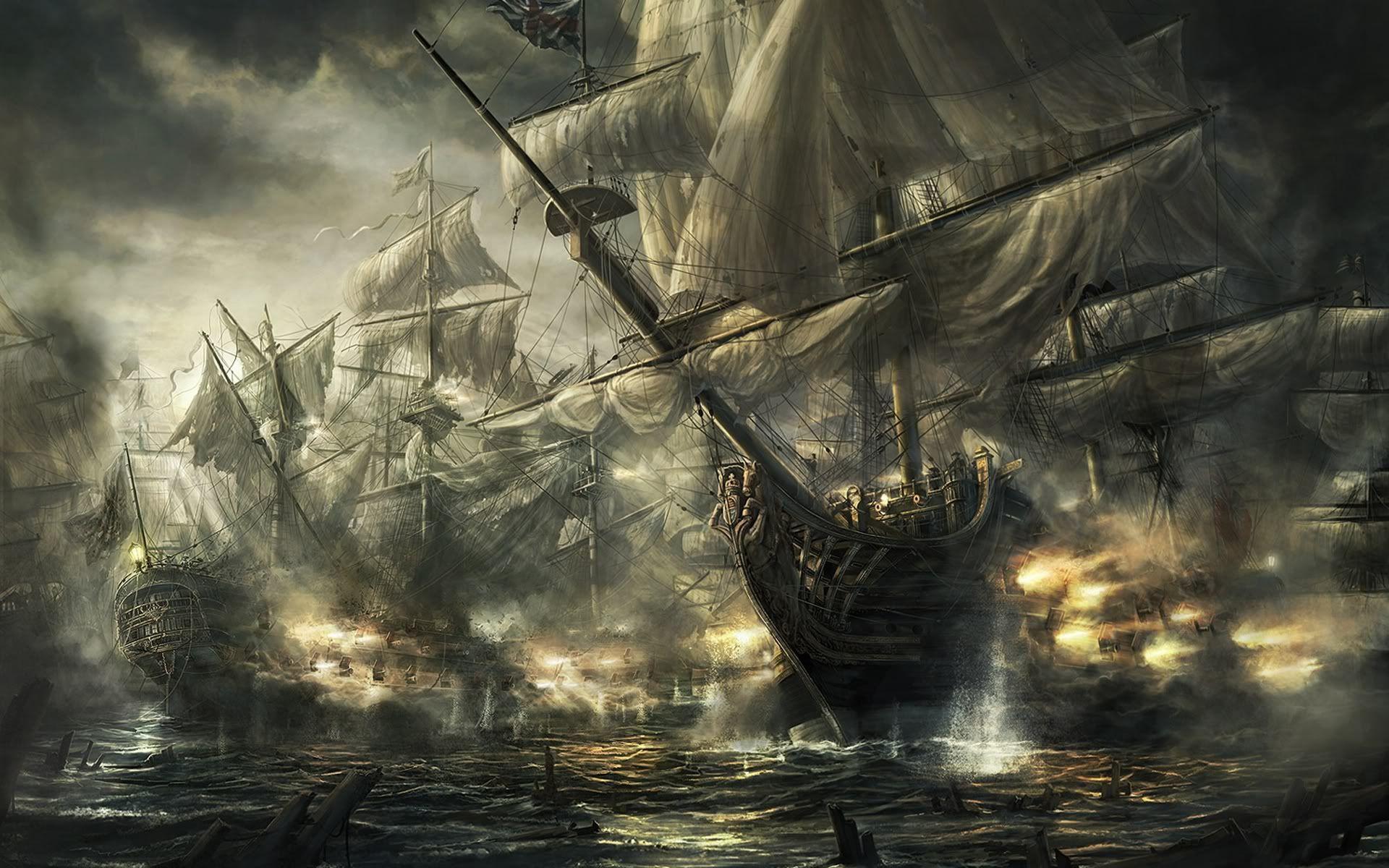 Pirate Ship Battle repinned by www.BlickeDeeler.de