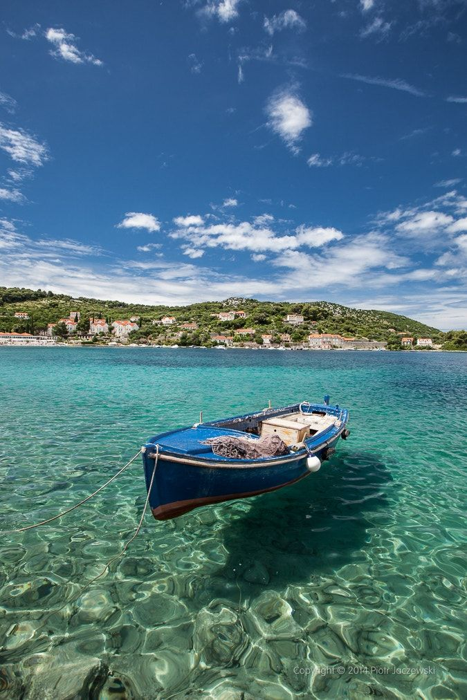 """Kolocep harbor - <a href=""""http://www.linkconnector.com/ta.php?lc=135071030743004337&url=http://www.gettyimages.com/search/2/image?artist=by%20piotr%20jaczewski&excludenudity=false&sort=newest"""">FOR SALE ON GETTY IMAGES</a>  Boat in harbor of Kolocep in Croatia"""